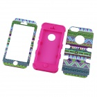 Aztec Indians Maya Tribe Pattern Retro Vintage Back Cover Case for IPHONE 5 / 5S - Dark Pink