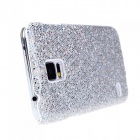 Fashionable Shimmering Powder Style Protective Plastic Back Case for Samsung Galaxy S5 - Silver