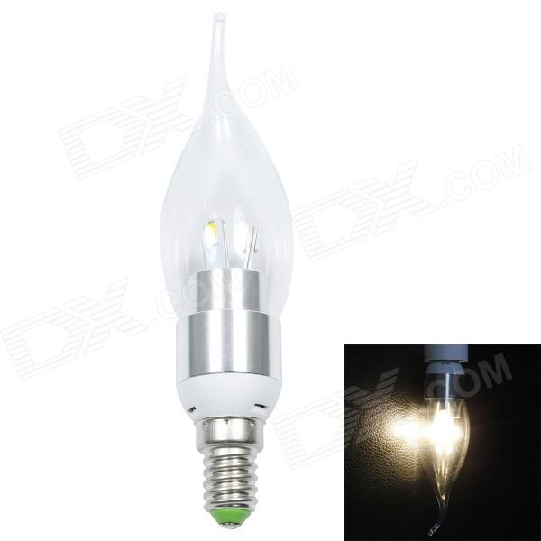 E14 3W 200lm 2700K 6 x SMD 5630 LED Warm White Light Candles Pull Taillight - (AC 85~265V)