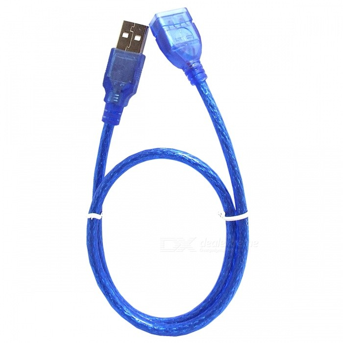 USB 2.0 Extension Cable - Blue / 50cm