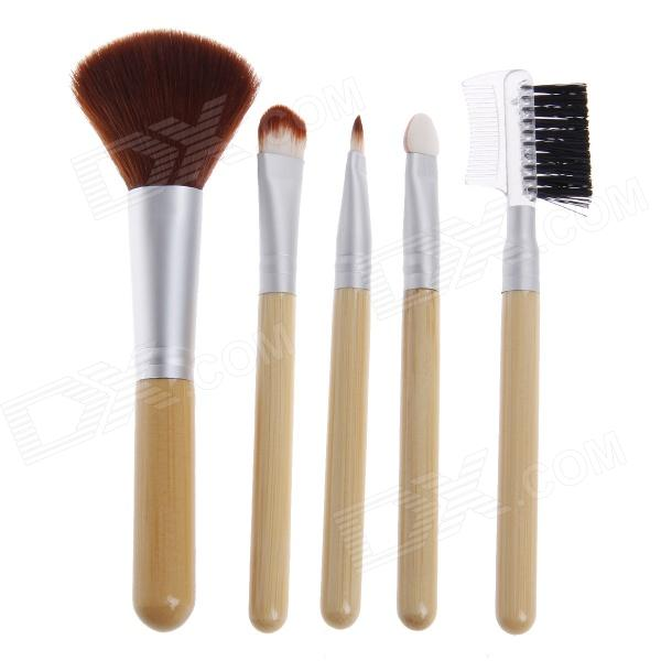 Fali H9 professionellen Make-up-Pinsel Cosmetic Bambusgriff 5-teiliges Set - Holz