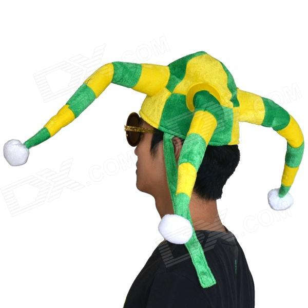 ... OUMILY 2014 World Cup Brazil Octopus Style Clown Show Party Hat Cap -  Yellow + Green ... 3ff6674b9e73