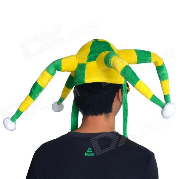 ... OUMILY 2014 World Cup Brazil Octopus Style Clown Show Party Hat Cap -  Yellow + Green 40496fc38952