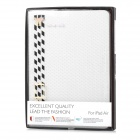 IP53 Hand gewebt PU + PC Full Body Fall w / Stand / Card Slots für IPAD AIR - White + Black