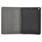 "IP51 universale 9.7 ""Flip-open PU + PC custodia w / Holder + Slot per IPAD AIR - Nero + Bianco"