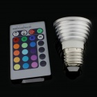 3W 16-Color RGB LED Magic Spotlight Bulb with Remote Controller