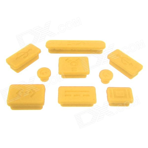 Mr.northjoe universale anti-polvere spina per MACBOOK PRO - Giallo (9 PCS)