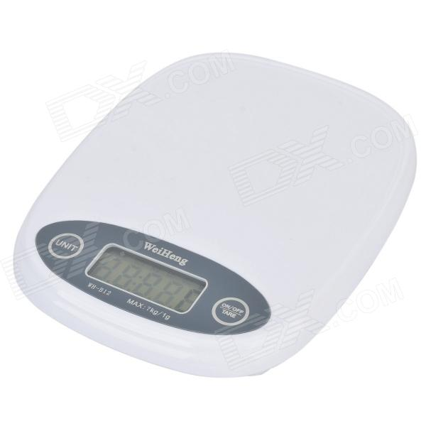 Buy Portable Kitchen 1.6' LCD Digital Scale - White (7KG / 1G) with Litecoins with Free Shipping on Gipsybee.com