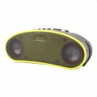 Bicycle 3W LED Lamp + Waterproof Bluetooth 3.0 Speaker w/ Ring Bell / Handsfree Call - Yellow