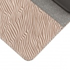 ENKAY Zebra-stripe Protective PU Leather Case Cover Stand for Samsung Galaxy S5 - Light Brown