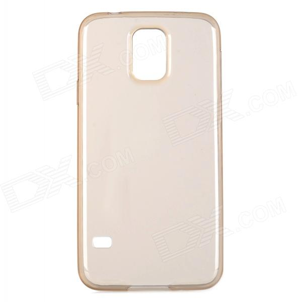 HOCO HS-T003 Protective 0.5mm TPU Back Case Cover for Samsung Galaxy S5 - Translucent Tawny