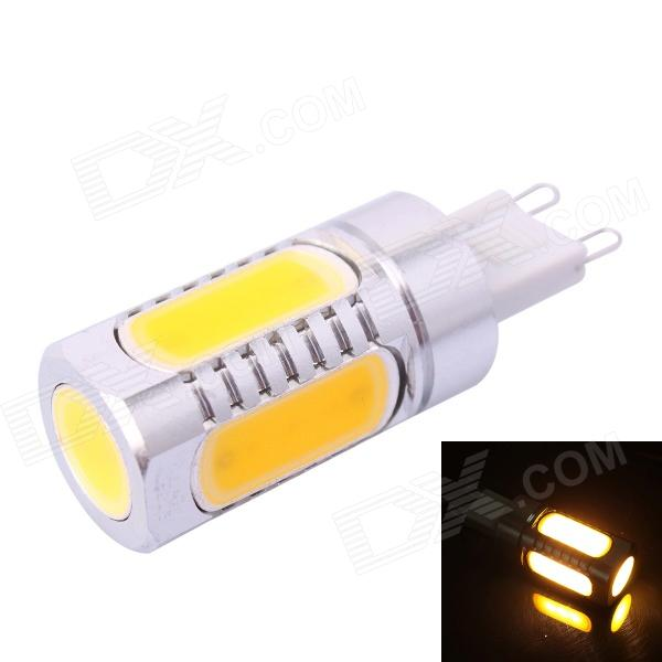 G9-6D 7.5W 350lm 2800K Warm White LED Light Bulb (DC 12V)G9<br>Form  ColorSilverColor BINWarm WhiteModelG9-6D 7.5WMaterialAluminum + siliconeQuantity1 DX.PCM.Model.AttributeModel.UnitPowerOthers,7.5WRated VoltageDC 12 DX.PCM.Model.AttributeModel.UnitConnector TypeOthers,G9Chip BrandOthersChip TypeLEDEmitter TypeLEDTotal Emitters5Actual Lumens350 DX.PCM.Model.AttributeModel.UnitColor Temperature12000K,Others,2800KDimmableNoBeam Angle360 DX.PCM.Model.AttributeModel.UnitPacking List1 x LED Light<br>