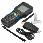 "Convenient 2.3"" SCreen Handheld Wired Barcode Data Scanner Collector - Black"
