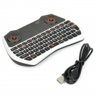 Rii RT-MWK28 mini teclado + 6-axis gyroscope air mouse + touchpad para TV BOX - blanco + negro