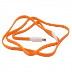 USB 2.0 to Micro USB Charging / Data Sync Cable w/ LED for Samsung / Motorola + More - Orange (1m)
