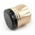 MUSIC S10 Super Mini Bluetooth Speaker w/ Mic / USB - Golden + Black