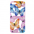 Moda Hollow intagliato Butterfly Design custodia in Silicone per IPHONE 5 / 5S - blu + rosa