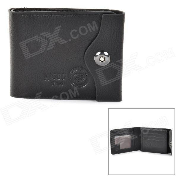Men's Classic Foldable Leather + PU Wallet