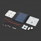 TY-3 Solar Panel + Holders Set for DIY Model Toy - White + Yellow