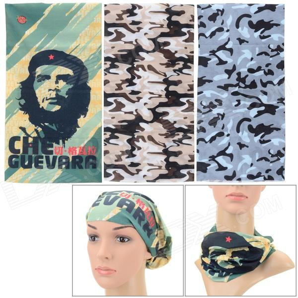 Outdoor Sports Multi-functional Seamless Polyester Head Scarf - Camouflage + Multi-colored (3 PCS)