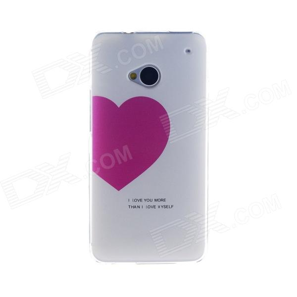 Kinston Love to You Pattern TPU Soft Case for HTC One M7 - White + PinkTPU Cases<br>Form ColorWhite + PinkBrandKinstonModelKST02299MaterialTPUQuantity1 DX.PCM.Model.AttributeModel.UnitShade Of ColorMulti-colorCompatible ModelsHTC One M7Packing List1 x Case<br>