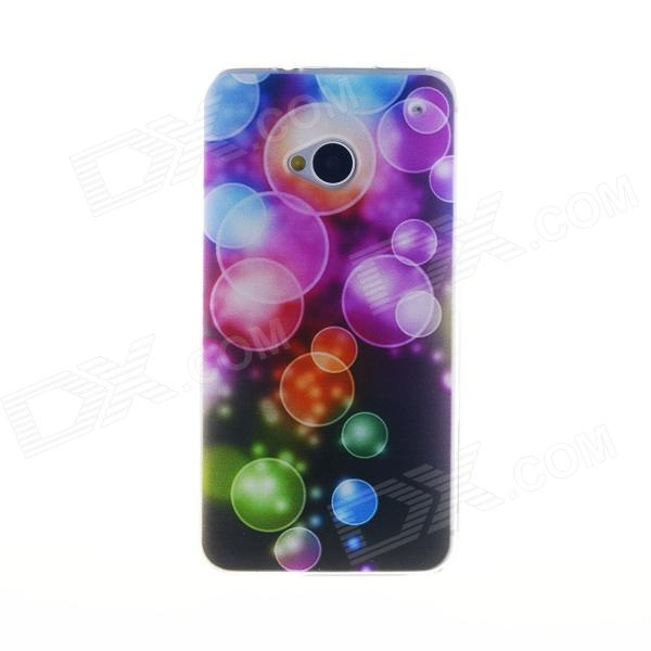 Kinston Colorful Bubble Pattern TPU Soft Case for HTC One M7