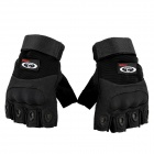 OUMILY-Outdoor-Tactical-Half-finger-Gloves-Black-(Size-M-Pair)