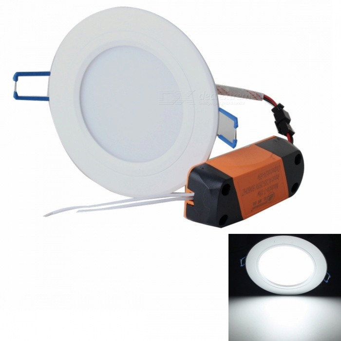 Buy ZHISHUNJIA ZSJ8W-W 8W White 600lm 16-SMD LED Ceiling Light (85~265V) with Litecoins with Free Shipping on Gipsybee.com