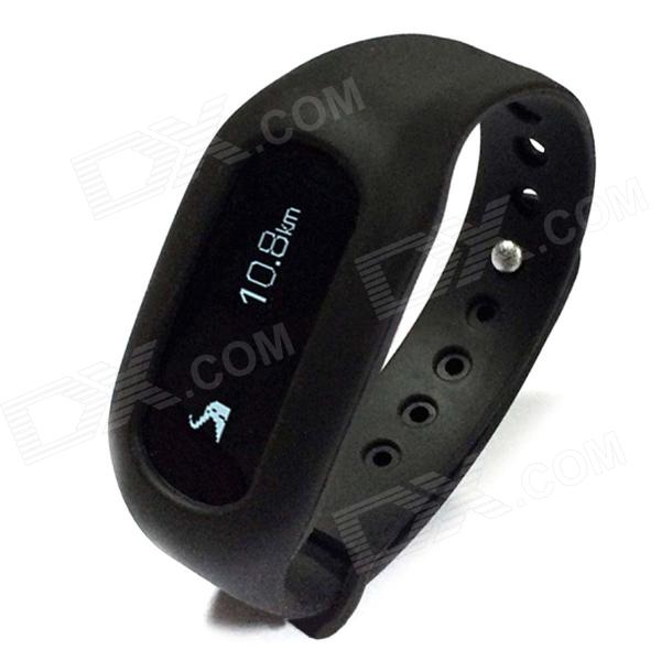 Ibody Intelligent Pedometer Bracelet w/ Motion Record - Black