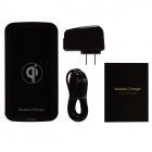FTQI-001A Qi Standard Wireless Charger for IPHONE / Nokia / LG / Samsung - Black (100~240V)