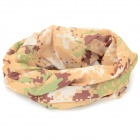 Fashionable Men's Four Seasons Polyester Outdoor Sports Head Scarf - Yellow + Brown + Multi-Colored