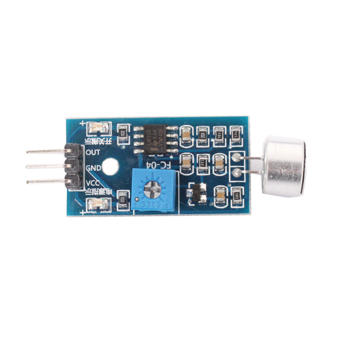 Sound Sensor Module for Arduino (Works with Official Arduino Boards) - Light BlueSensors<br>ColorLight BlueBrandNoModelNoQuantity1 PieceMaterialPCB + metalEnglish Manual / SpecNoOther FeaturesLM393, Electric condenser microphone; Operation voltage: DC 4-6V; 1-Way signal output, low level output, Suitable for sound-control light and DIY projectsPacking List1 x Sound sensor module<br>