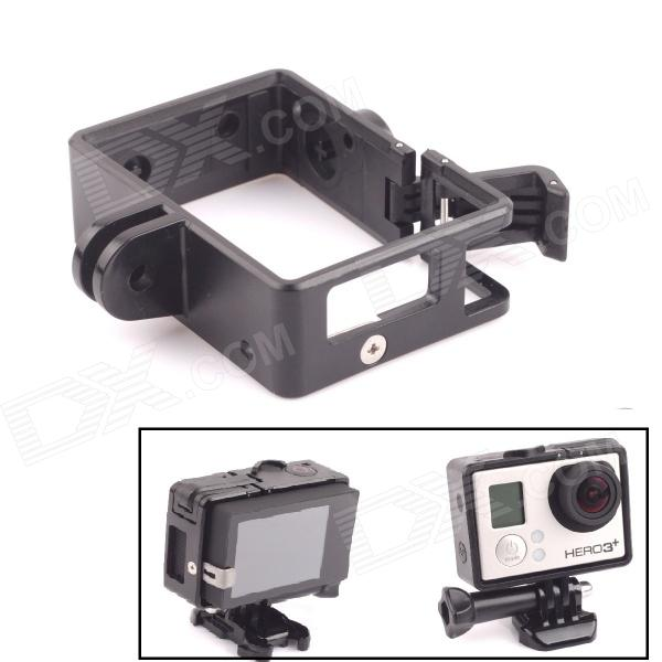 Fixed Frame w/ Arm for GoPro Hero 4 / 3 / 3+ - BlackBags &amp; Cases<br>Form  ColorBlackBrandPANNOVOMaterialPlasticQuantity1 DX.PCM.Model.AttributeModel.UnitCompatible BrandGoProCompatible ModelGoPro Hero 3 / 3+Shade Of ColorBlackCompatible ModelsGoPro Hero 3,GoPro Hero 3+,GoPro Hero 4SizeSDimension- DX.PCM.Model.AttributeModel.UnitInner Dimension-Packing List1 x Frame<br>