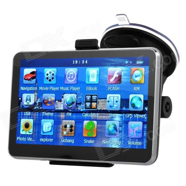 5quot Resistive Screen Win CE 6.0 Car GPS Navigator w/ TF / FM / Mic. - Black (Multinational)
