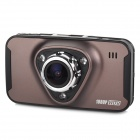 "M7 2.7"" TFT 1/4"" CMOS 3.0MP 170 Degrees Wide Angle Car DVR w/ 3-IR-LED / G-Sensor - Black + Coffee"
