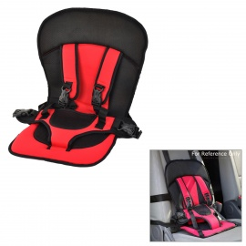 Childrens-Multi-functional-Portable-Car-Safety-Harness-Seat-Cover-Cushion-Black-2b-Red
