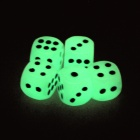 YB-001 Funny Casino Gambling Glow-in-the-Dark Dice - Fluorescent Green (5 PCS)