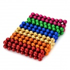 DIY Mini NdFeB Magnetic Balls Educational Toy - Golden + Red (216PCS)