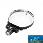 KINFIRE Sports KQ-80 LED 900lm 3-Mode White Dimming Diving Headlight - Black (1 x 18650)