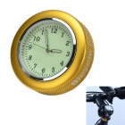 Bicycle Mounted Waterproof / Shockproof Mini Aluminium Alloy Luminous Clock Watch - Gold + Silver