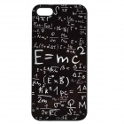 Albert Einstein masse energi likningen mønster aluminiumslegering bakre sak for IPHONE 5 / 5S - Black
