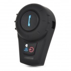 Bluetooth-V21-Walkie-Talkie-Intercom-Headset-w-Speaker-Mic-for-Motorcycle-Helmet-Black