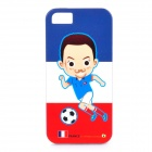 ROCK France World Cup Style Protective TPU Back Case for IPHONE 5 / 5S - Multicolored