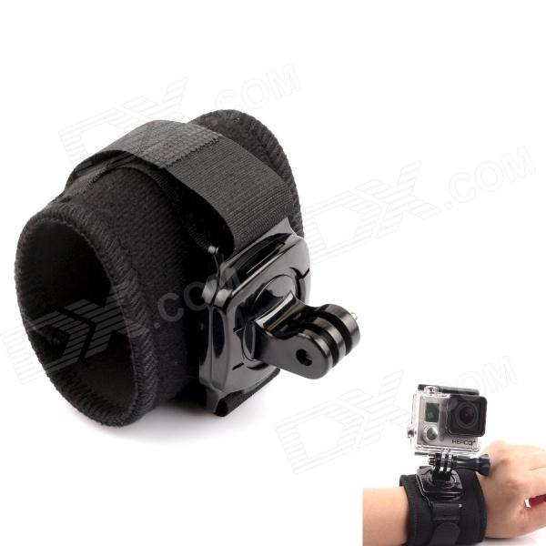 Arm Band Wrist Strap w/ 360 Rotary Connector for Gopro Hero - BlackMounting Accessories<br>Form  ColorBlackBrandPANNOVOModelG-483MaterialPC + polyesterQuantity1 DX.PCM.Model.AttributeModel.UnitTypeOthers,Gopro adapterRetractableNoMax.Load1000 DX.PCM.Model.AttributeModel.UnitShade Of ColorBlackCompatible ModelsOthers,GoPro Hero 1,GoPro Hero 2,GoPro Hero 3,GoPro Hero 3+,GoPro Hero 4,SJ4000Packing List1 x Arm wrist band1 x Mount base<br>
