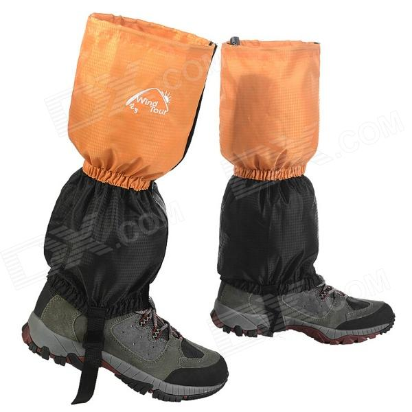 Wind Tour WT073001 Outdoor Waterproof Breathable Snow Shoes Cover - Orange + Black (Pair)Form  ColorBlack + OrangeSizeFree SizeBrandOthers,Wind TourModelWT073001Quantity1 DX.PCM.Model.AttributeModel.UnitMaterialWaterproof fabricShade Of ColorBlackSeasonsFour SeasonsGenderUnisexBest UseMountaineering,Others,SkiingSuitable forAdultsOther FeaturesPrevents your trouser ends from getting wet.Packing List2 x Shoes covers<br>