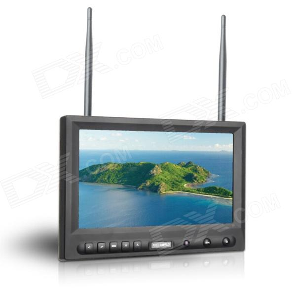 "FEELWORLD FPA-819DT 8"" FPV Monitor w/ Built-in Dual 32-CH Antennas - Black"