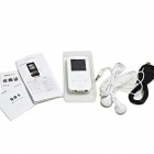 "ONN Q2 Ultra-Slim 1.5"" TFT Screen Sporting MP4 Player w/ FM / USB 2.0 / 3.5mm - White (8GB)"