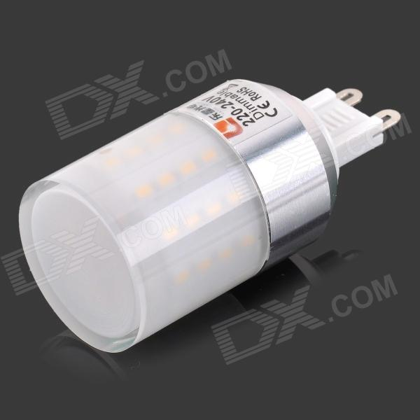 Lexing G9 Dimmable 4.5W lampe 280LM 3500 K 50-3014 SMD LED chaud le maïs blanc léger (220-240V AC)
