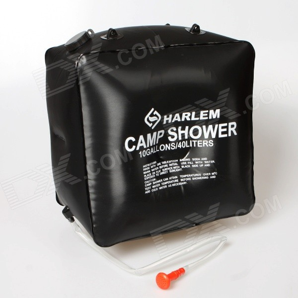 Harlem HD528 Outdoor Camping Solar Powered Bathing Hanging Water Bag - Black (40L)