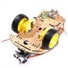 R0008 Multi-Function Ultrasonic Robot Car Kits for Arduino - Multicolored (The Third Generation)